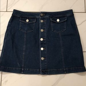 New Ann Taylor Loft Denim Mini Skirt